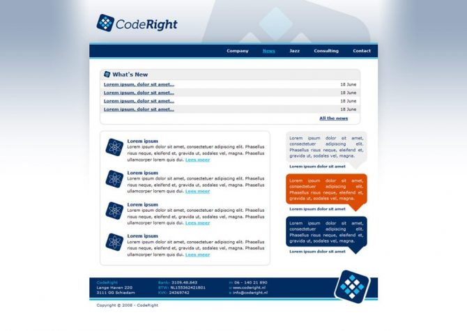 Nieuws pagina - CodeRight website